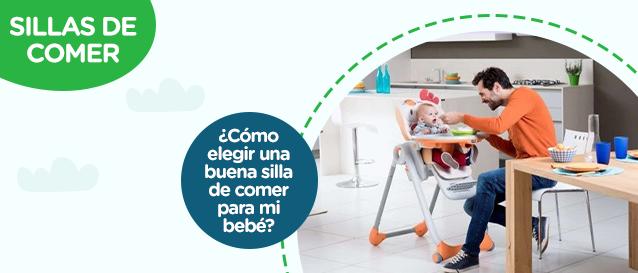 ¿Cómo elegir una buena silla de comer para mi bebé