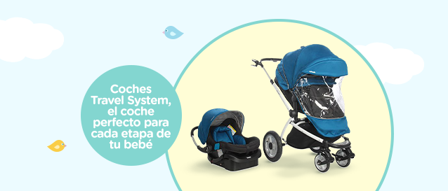 Coches Travel System, el coche perfecto para cada etapa de tu bebé